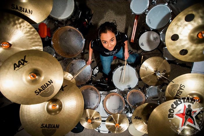 2) Youngest professional drummer
