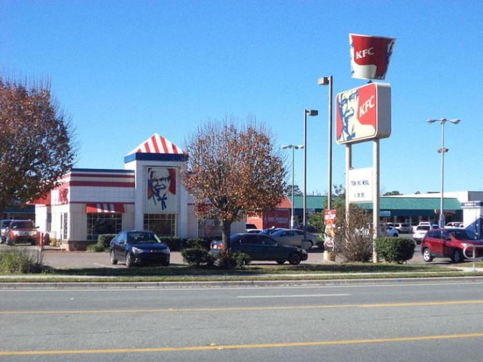 10. Kentucky Fried Chicken, and the name says it all.