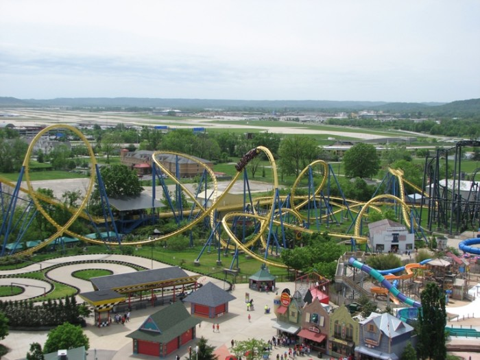 6. Kentucky Kingdom is the Kings Island of Kentucky and resides in Louisville. They have everything from fair food, to carnival rides, to a water park.  It's a great way to cool off on a hot summer day.