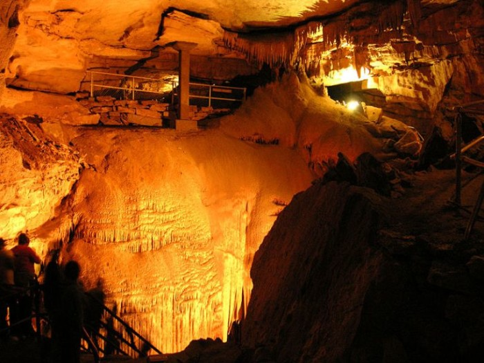 """8. Mammoth Cave is the largest underground cave structure in the United States and includes a """"bottomless pit""""."""