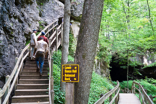 5. Maquoketa Caves State Park: This popular spot in Maquoketa is a must-see for out-of-towners and in-staters alike. Six miles of trails, a beautiful forest, and waterfall are perfect for hikers, campers, and nature tourists.