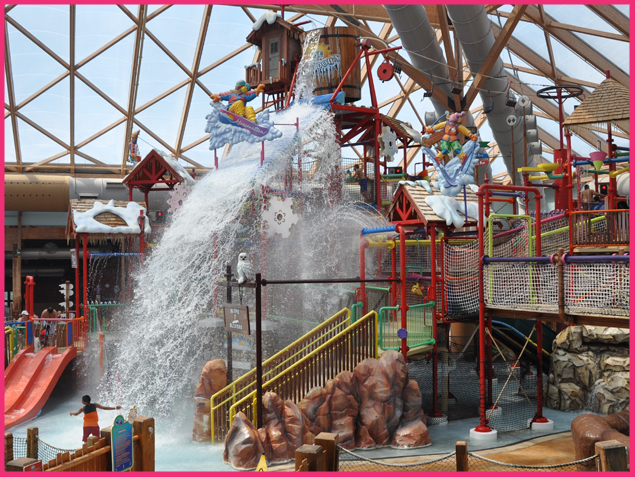10. Head to a ski resort for indoor water parks and activities