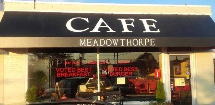 4 Meadowthorpe Café in Lexington offers some fantastic burgers, and sandwiches, like the Spalding with a donut like bun.