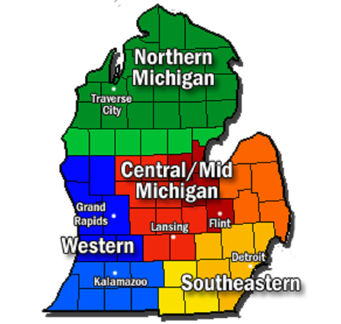 15) Have argued which part of the Mitten State is the best.