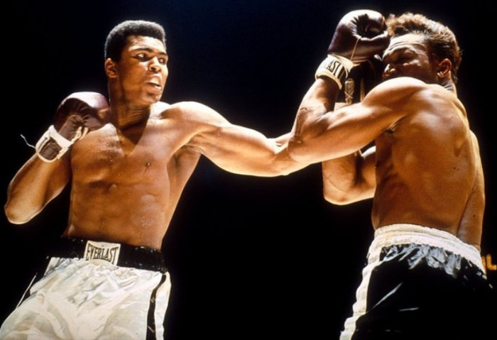 10. Muhammad Ali was born in 1943 and became the undisputed heavy weight champion of the world.