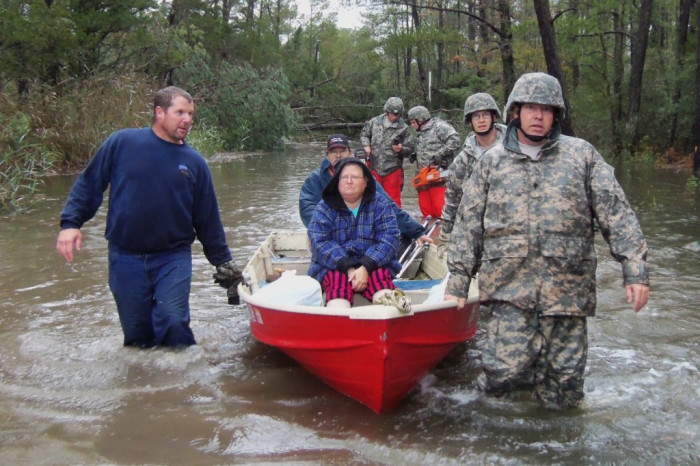 9. The National Guard to the rescue.
