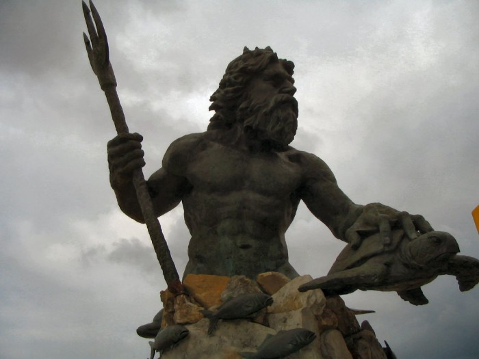 6. King Neptune getting the job done in VIrginia Beach.