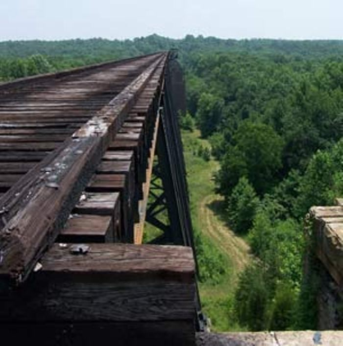7. In FIsherville the Norfolk Southern Railway Trestle runs over Floyds Fork River. It has been said that Goatman lives underneath the trestle and calls out in a child like voice for help. Those who go to help are found dead, or not heard from again. (so the legend says)