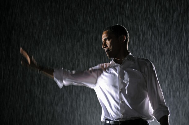 12. A little rain wasn't going to stop Obama at University of Mary Washington in Fredericksburg