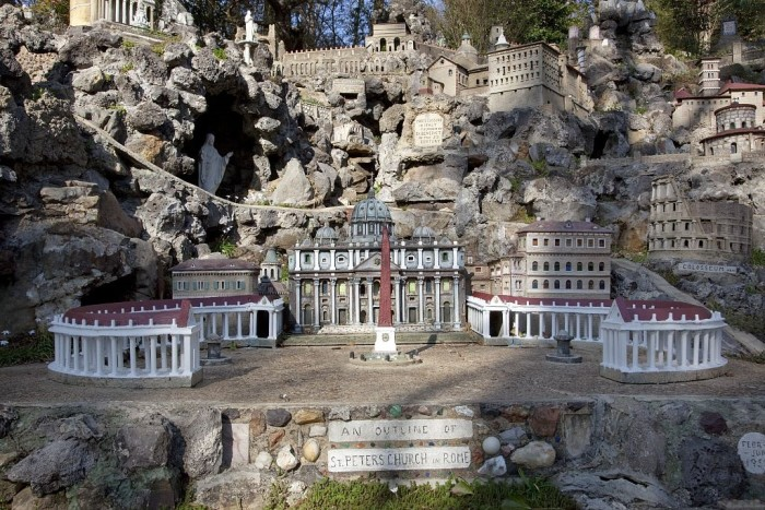 2) Ave Maria Grotto, a 4-acre park on the grounds of St. Bernard Abbey, in Cullman, provides an amazing garden setting for 125 miniature reproductions of famous religious structures. I can guarantee you won't find anything else like this!