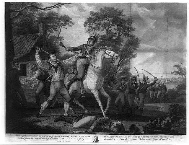 Peter_Francisco_Tarleton_cavalry