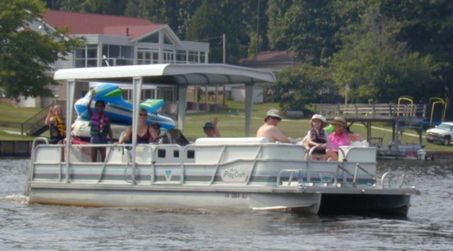 10. Rent a cabin or house on the lake and enjoy a weekend of skiing, boating, fishing, or just simply relaxing.