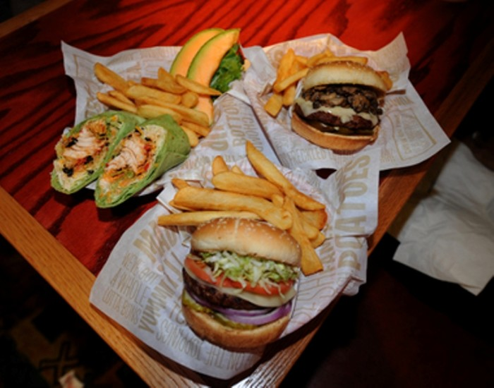 2B. A variety of Red Robin sandwiches.