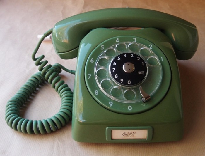 2. Phones didn't have buttons. It was rotary dial or nothing.