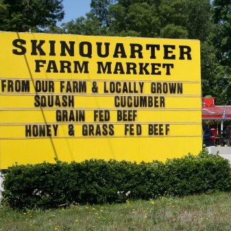 Skinquarter Farm Market Sign