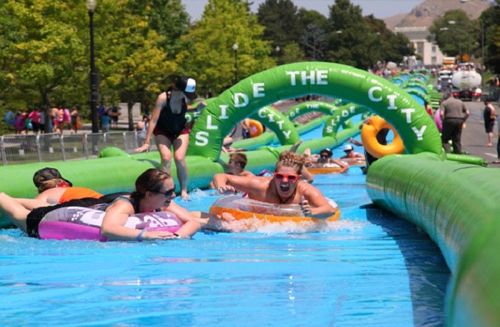3. Slide down the 1,000-foot slip and slide that's coming to Mobile on June 27, 2015.