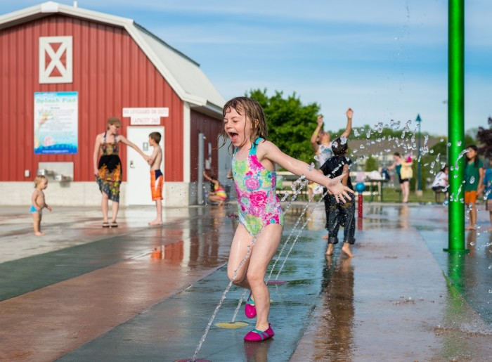 10. Take the children to the local splash pad for an afternoon of fun.