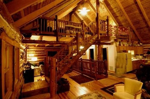 ...Then again, it doesn't hurt to also have access to an epic cabin like this...