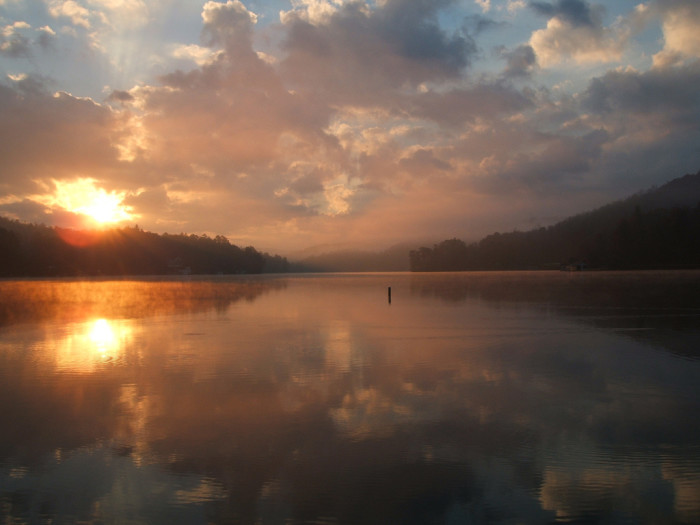 Sunrise in North Georgia Mountains