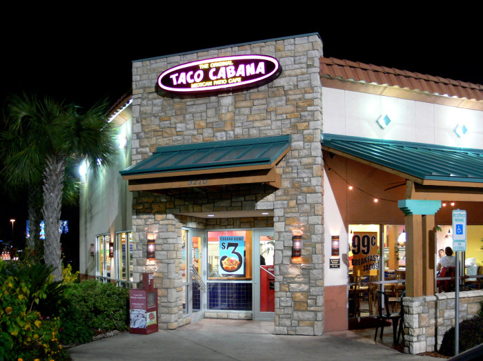 7. Taco Cabana is like a Taco Bell where everything is fresh, they sell alcohol and there's an amazing salsa bar.