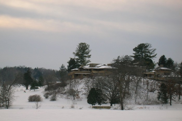 3. Taliesin was the summer home of Frank Lloyd Wright, as well as, his school of architecture. It is located in the small town of Spring Green. They offer tours so you can check it out yourself!