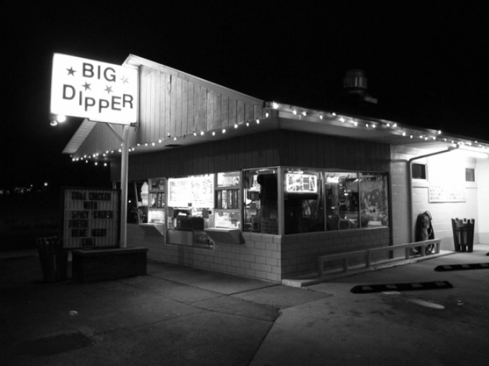 9. Big Dipper in Owensboro has amazing burgers, ham sandwiches, BLTs, Tuna Salad, Big Boys, Pimento sandwiches… AND hand dipped malts. The place itself is reminiscent of old fashioned diners, and the food is just as good.