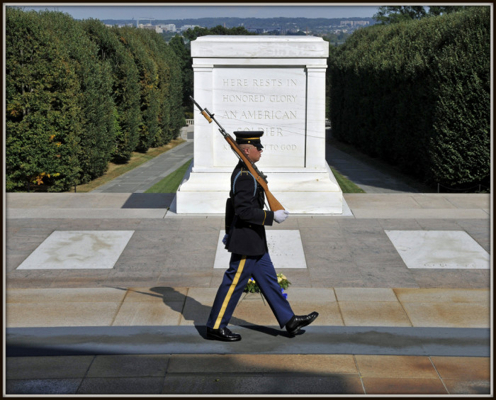 Visit the Tombs of the Unknowns and see the guards that honor it 24 hours a day, 365 days a year.