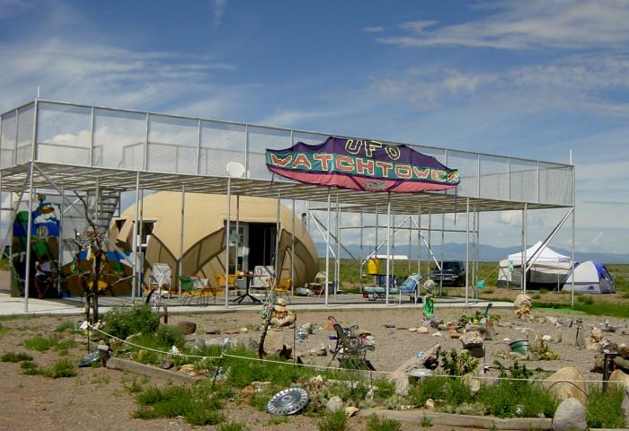 8) UFO Watchtower Campground (Center)