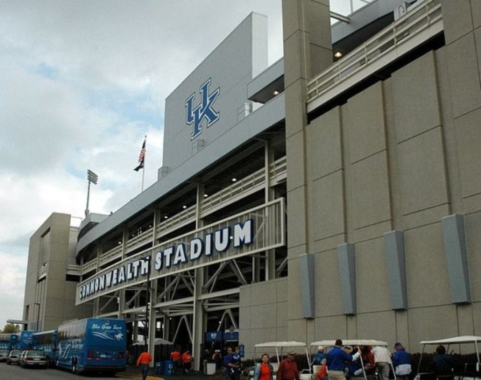 3. It is blue and white all the way with University of Kentucky Wildcat fans.