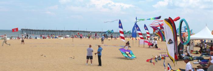 Virginia Beachfront And Boardwalk