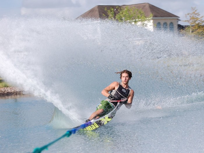 9. Show off your amazing water skiing skills to all of your friends.