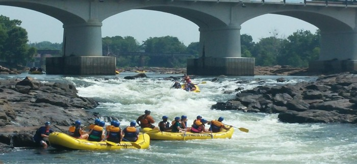 5. Go whitewater rafting down the  Chattahoochee River, in Phenix City.
