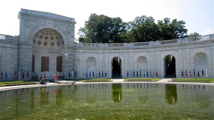 Pay tribute to the Women in Military Service For America at the memorial on the cemetery grounds.