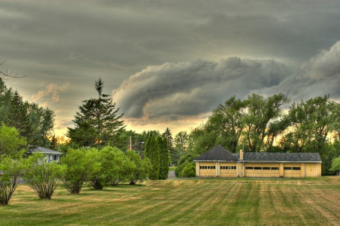 1. A storm approaches this home in Superior.