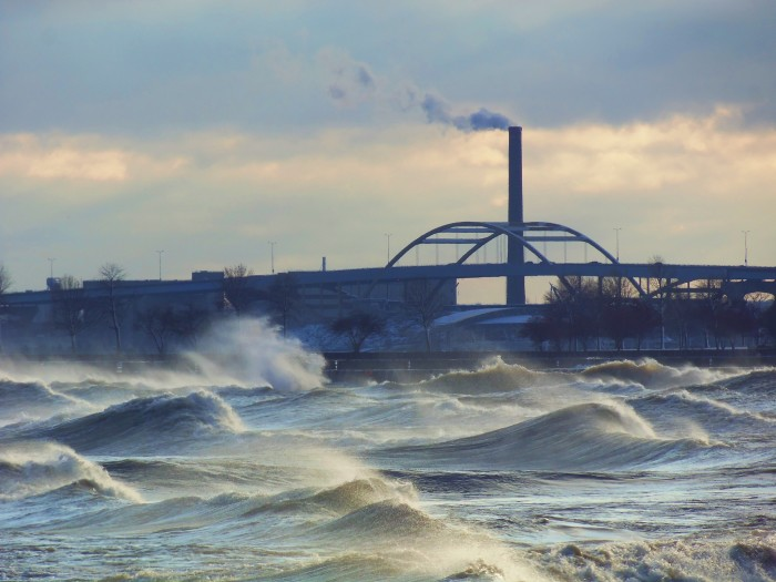 6. The waves are very choppy here in Milwaukee.