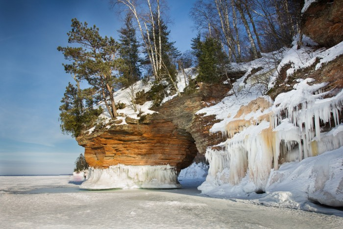 8. The Apostle Island sea caves are absolutely unreal in the winter.