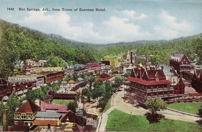 53. Army Navy Hospital: In 1887, the Army and Navy Hospital, the first combined general hospital treating patients from both the U.S. Army and U.S. Navy, opened in downtown Hot Springs.  It was the first hospital of its kind in the nation.