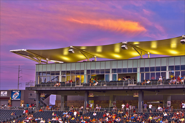 10. Arvest Ball Park: Best known for summertime sports entertainment, this stadium in Springdale, Arkansas is primarily used for MiLB baseball as the home of the Northwest Arkansas Naturals. The ballpark has a capacity of 7,305 people and opened in 2008.