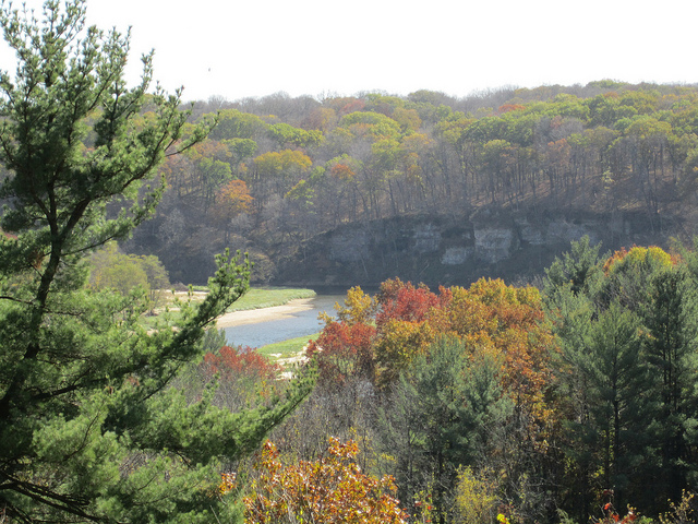 1. Backbone State Park: Located in Dundee, Iowa, Backbone was Iowa's very first state park. The park boasts 21 miles of rugged, winding trails, and plenty of limestone cliffs for climbers.
