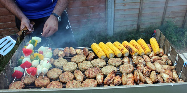 8. Host a backyard barbecue for your family and friends.