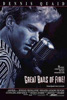 11. Great Balls of Fire (1988): This biographical film about rock 'n' roll pioneer Jerry Lee Lewis examines his troubled life, including his controversial  marriage to the 13-year-old- daughter of his first cousin. Until the uproar and backlash about his marriage hit, many believed Lewis replace Elvis  Presley as the King of Rock and Roll in the 1950s. The movie starred Dennis Quaid, Winona Ryder, Alec Baldwin and Arkansas native Lisa Blount.