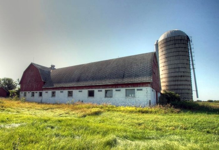 13. Check out this abandoned dairy barn is in Green Bay.