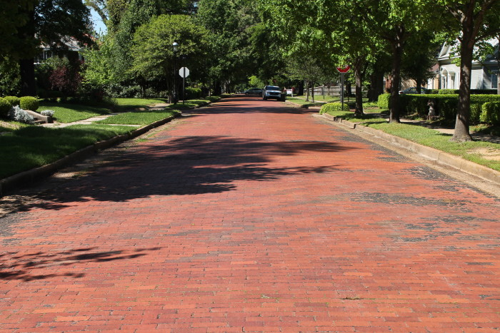 19. Beech Street Brick Street: This is a historic section of the Beech Street roadway in Texarkana, Arkansas. It consists of a section of road, between 14th and 24th Streets, which was paved in brick circa 1904.