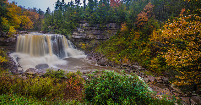 5) The Blackwater Falls are an absolute must-visit in West Virginia.