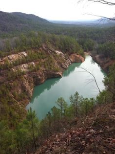 23. Blue Hole: This scenic spot is located just north of Jerusalem, Arkansas.