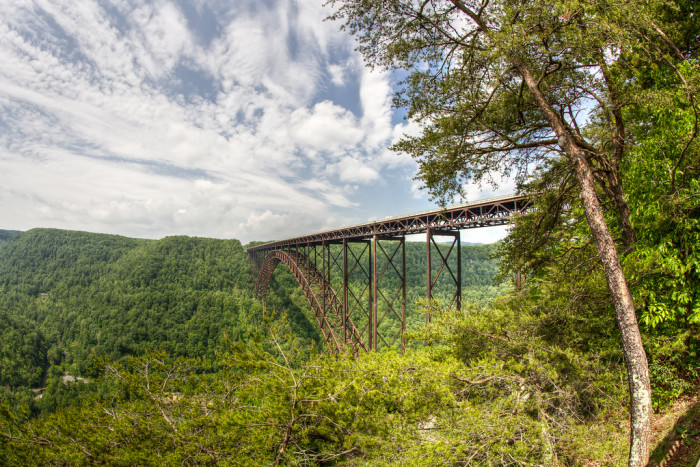 13) This photo really shows off how HUGE the New River Gorge Bridge actually is.