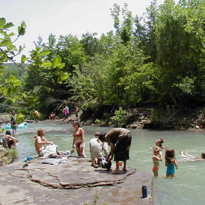 28. Buffalo Point: Swim in the clean, clear waters of the Buffalo River!