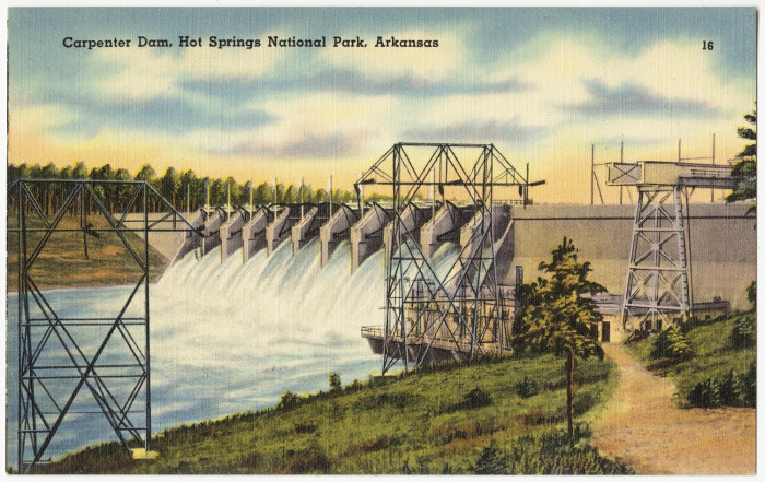 41. Carpenter Dam: Carpenter Dam is the second of three dams constructed along the Ouachita River in the vicinity of Hot Springs.