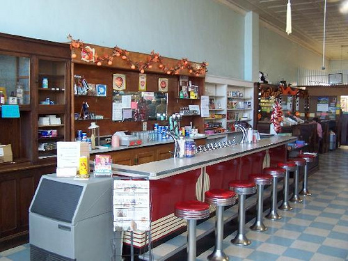 14. Chambers Drug Store: This Jacksonville, Arkansas drugstore has been open since 1956; the store still has its original soda fountain offering floats, milkshakes and other fountain fare.