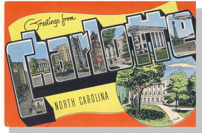 9. Charlotte sure has grown a lot since this postcard  first made its rounds, but this bit of history is displayed perfectly.